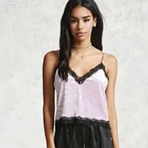 Victoria's Secret lilac lace trim camisole SMALL